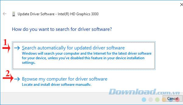 Tự động cập nhật driver