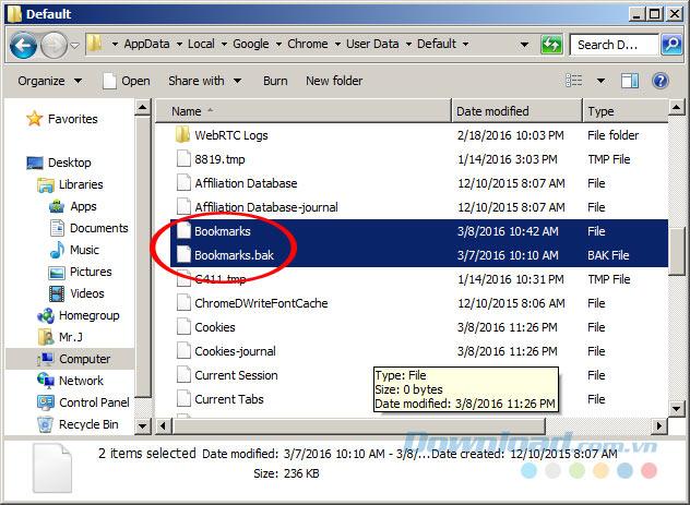 2 file bookmark