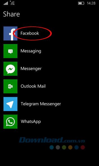 Chia sẻ trang web lên Facebook