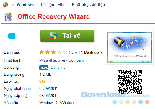 Tải về Office Recovery Wizard