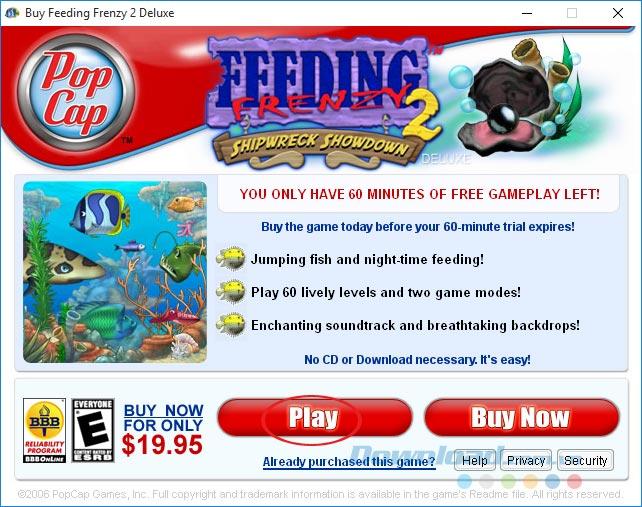 Chơi game Feeding Frenzy