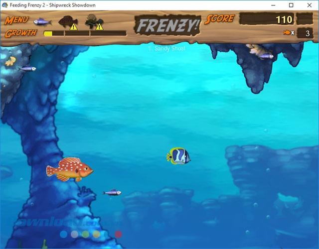 Giao diện chơi game cá lớn nuốt cá bé
