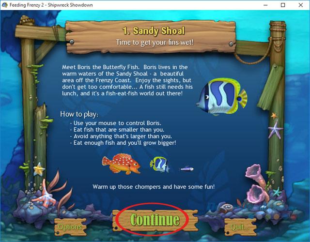 Tiếp tục chơi game cá lớn nuốt cá bé