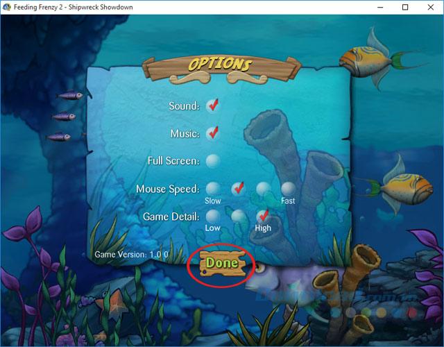 Thiết lập một số thông số trong game cá lớn nuốt cá bé