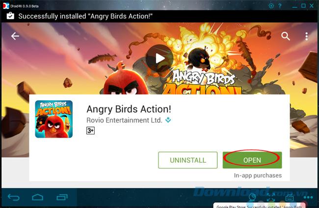 Chơi game Angry Birds Action trên máy tính