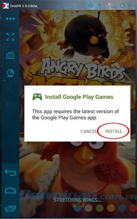 Chơi game Angry Birds Action bằng máy tính