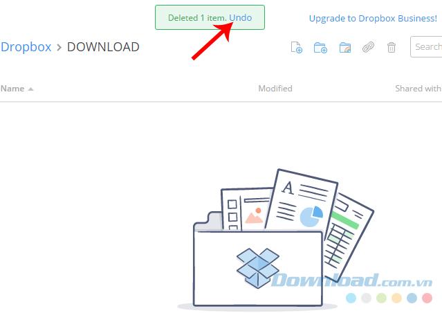 Hồi phục dữ liệu Dropbox