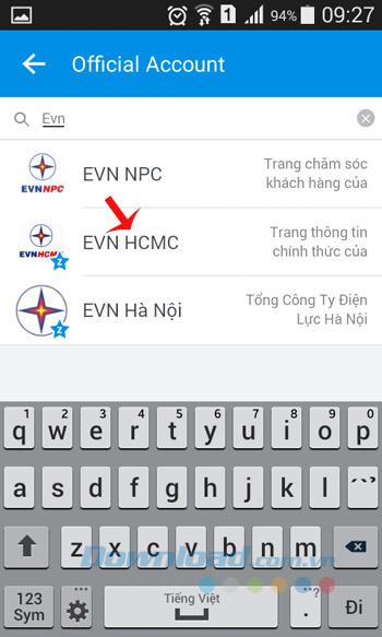 Gõ EVN HCMC