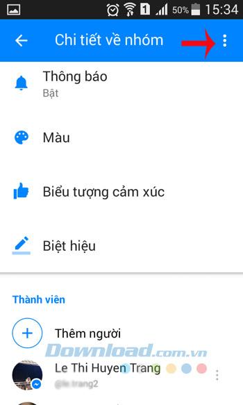 Chi tiết nhóm chat