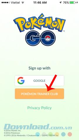 Đăng ký tài khoản Pokemon Trainer club
