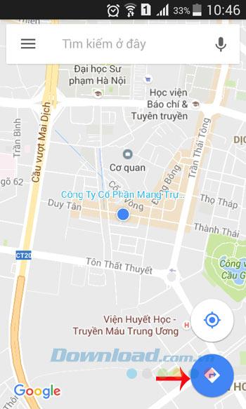 Chỉ đường trên Google Maps
