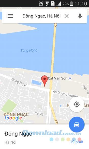 Địa điểm được gửi từ máy tính
