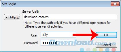 Nhập địa chỉ và thông tin