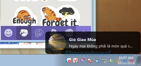 Thông báo trên máy tính