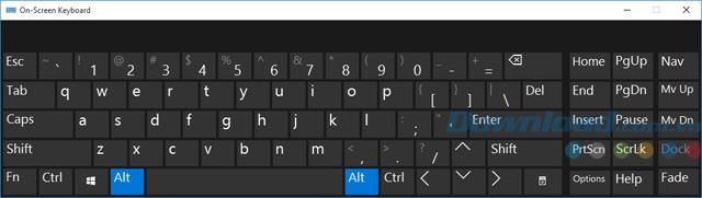Bàn phím ảo Windows 10