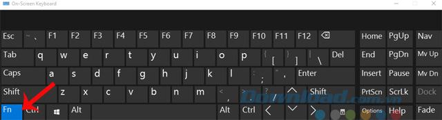 Phím Fn trên bàn phím ảo