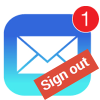 Cách đăng xuất email trên iPhone