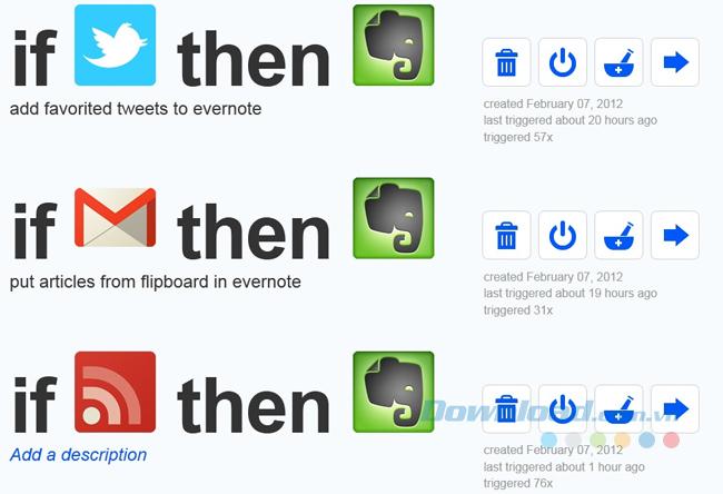Tự động gửi tin tới Evernote bằng ITTT
