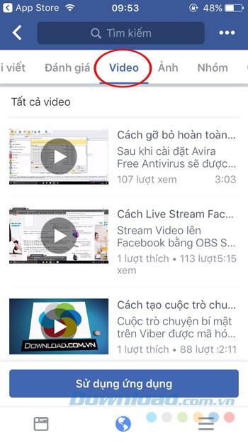 Tìm video