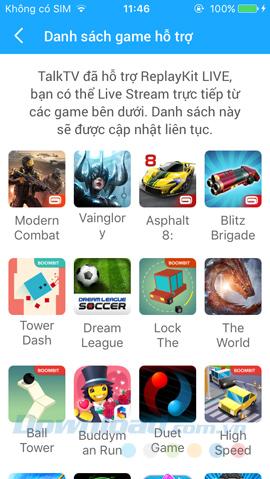 Danh sách game