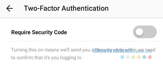 Kích hoạt tính năng bảo mật hai lớp