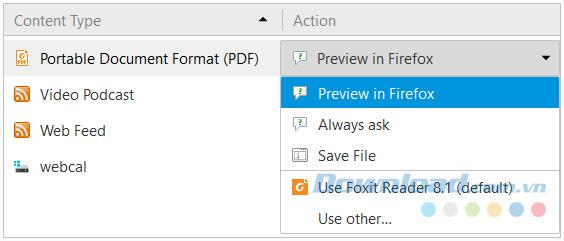 Vô hiệu hóa trình đọc PDF trên Firefox
