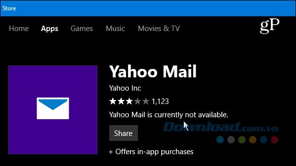 Yahoo Mail không còn hoạt động