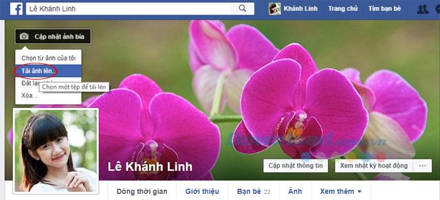 Cập nhật ảnh bìa Facebook