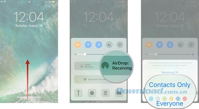 Bật AirDrop trên iPhone và iPad