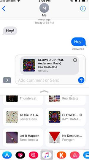 Gửi bài hát qua tin nhắn