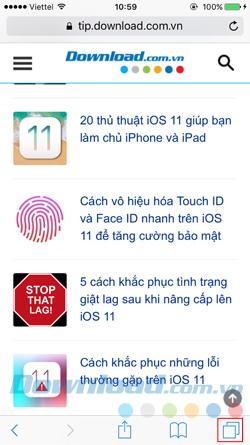 Safari trên iPhone