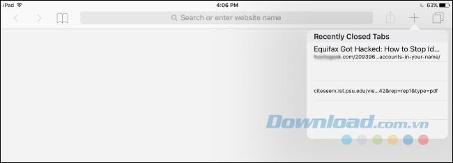 Safari trên iPad