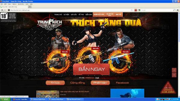 Chơi game trên Firefox
