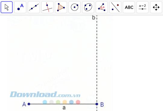 Tạo đường vuông góc b