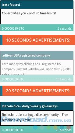 Trang web PTC hoặc Pay-to-Click