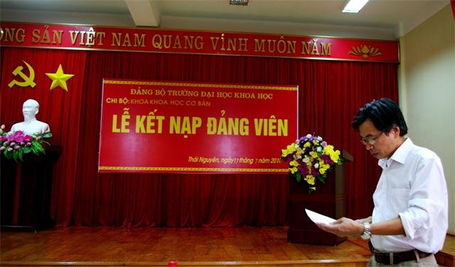 Lời phát biểu giao nhiệm vụ cho Đảng viên mới