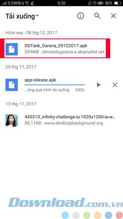 Cài đặt DDTank Android