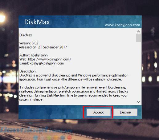 Cài Đặt DiskMax