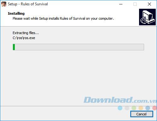 Quá trình cài đặt Rules Of Survival