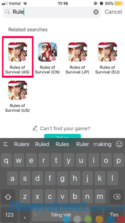 Fake IP chơi Rules Of Survival