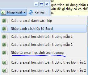 Nhập từ Excel
