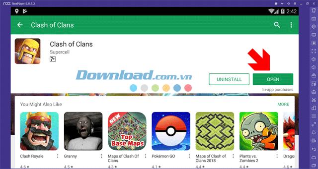 Hướng dẫn tải và cài đặt Clash Of Clan trên máy tính bằng NoxPlayer