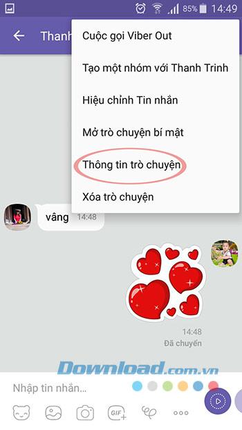 Thông tin cuộc trò chuyện