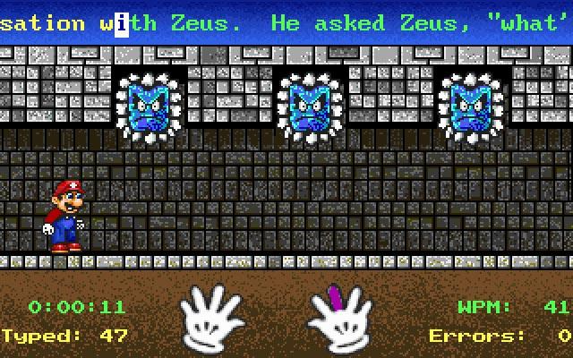 Phần mềm luyện gõ 10 ngón Mario Teaches Typing