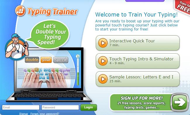 Luyện gõ máy tính 10 ngón bằng phần mềm tập đánh máy Typing Trainer