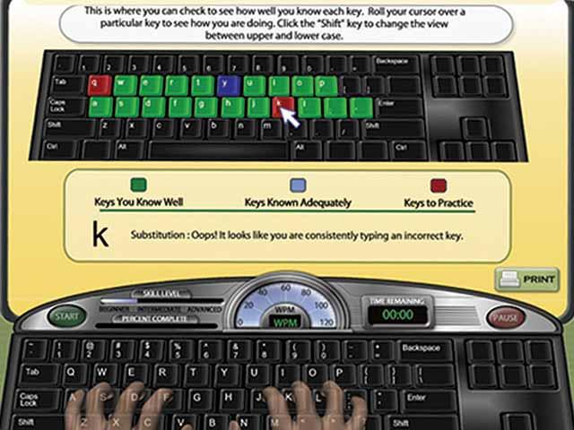Phần mềm dạy đánh máy tính Mavis Beacon Teaches Typing Platinum.