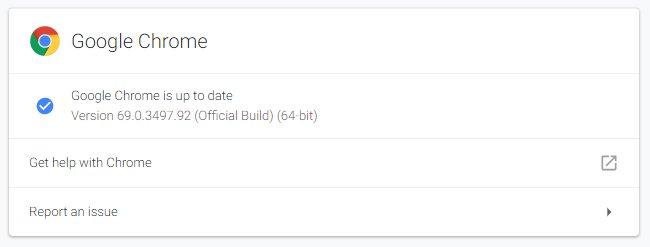 Chrome phiên bản 69