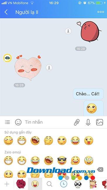 """Chat với """"Cá"""" trong tính năng thả thính"""