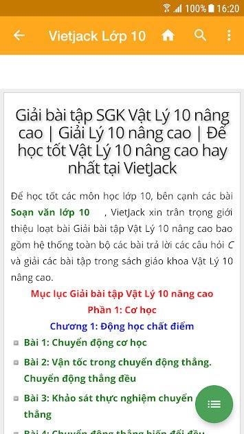 Tìm kiếm thông tin trên Vietjack