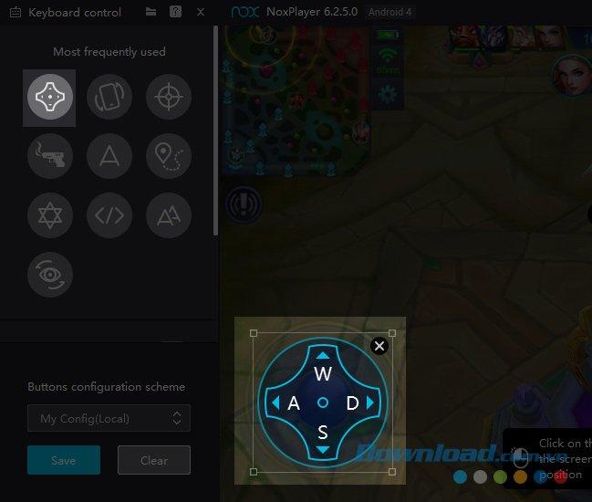 Cài đặt phím di chuyển khi chơi Mobile Legends bằng bàn phím